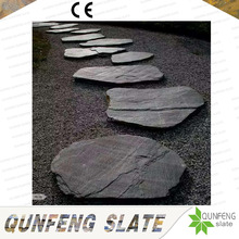 Garden Decoration Natural Black Tumbled Slate Stepping Stone