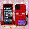 2013 new design fashionable Block Silicone Case For Iphone 5 For Lego