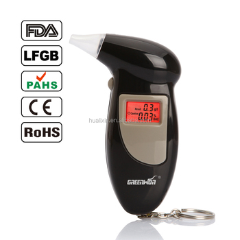 GREENWON Patent Wholesale Personal Key Chain Drinking Alcohol Tester/Breathalyzer, Drunk Driving Stopper with CE&ROHS&FDA