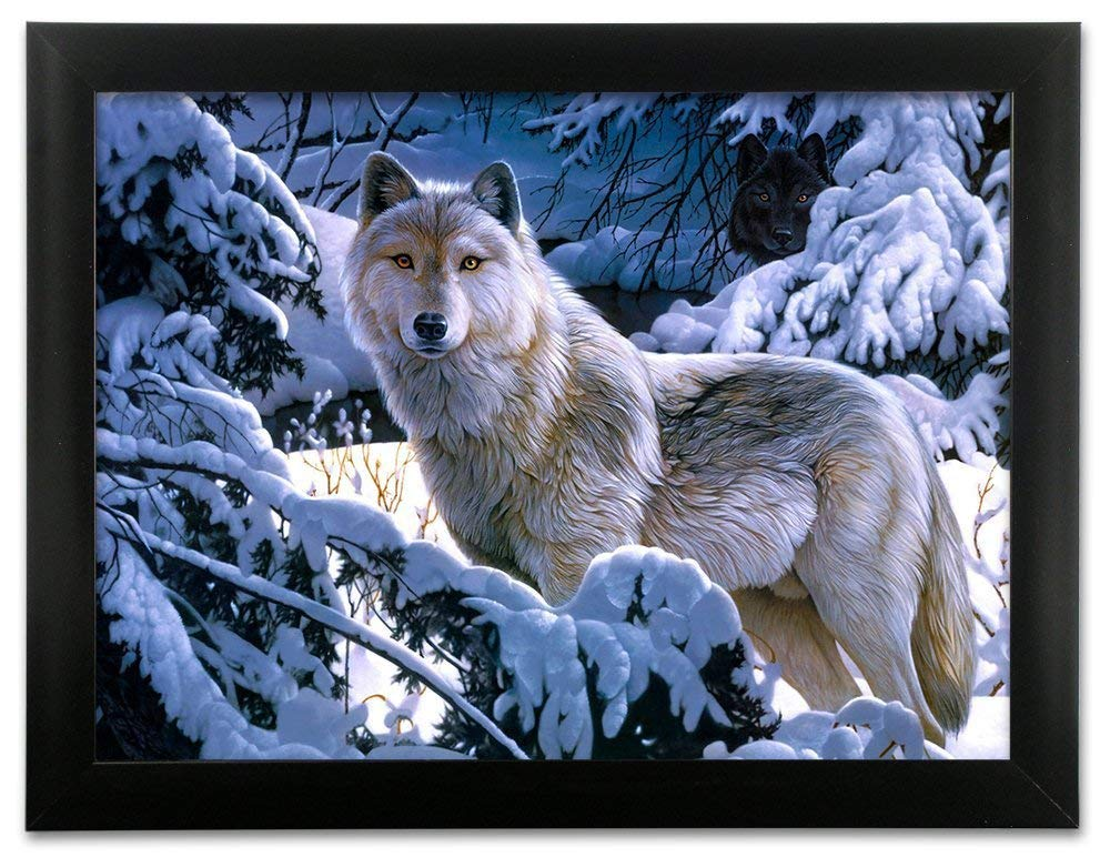 adba3e3e71b Get Quotations · 3d Picture Framed (Lenticular) Wolf