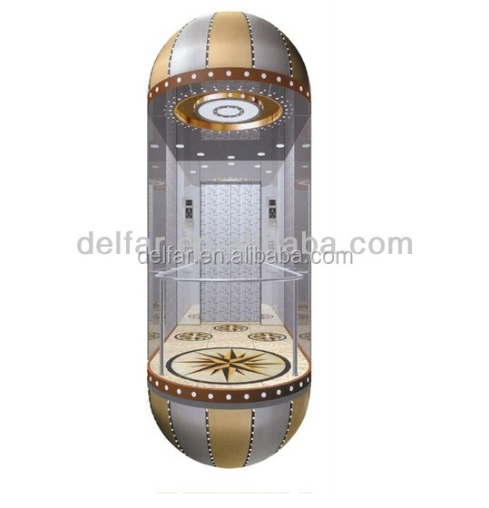 Cheap and comfortable sightseeing elevator MRL