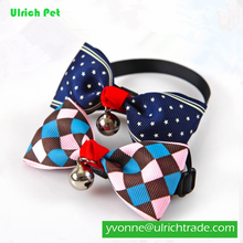 china Fashion polyester handmade dog bow ties for dog pets accesories