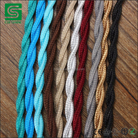 Vintage Lighting Fabric Cable Cotton Textile Cable Braided Electrical Wire
