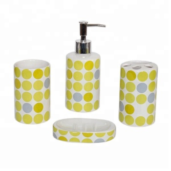 Printed 4 Pieces Ceramic Bathroom Accessories Set - Buy Bathroom  Accessories,Ceramic,Printed 4 Pieces Product on Alibaba com