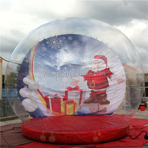 Giant inflatable human size Christmas snow globe for sale C1008