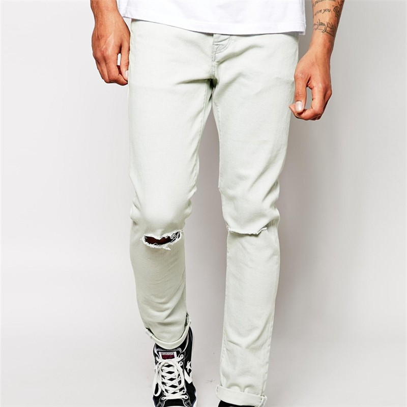 New Style Boys White Ripped Jeans For Men - Buy White Ripped Jeans ...