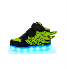 2016 The new children s shoes with a USB charging light children shoes fashion shoes bright