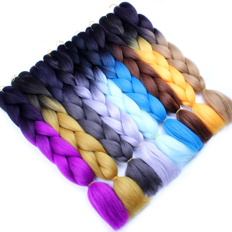 wholesale 82inch 165g ombre color jumbo braid expression braiding hair
