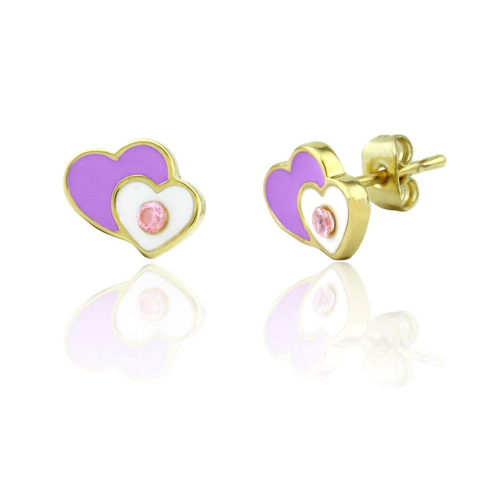 Get Quotations Heart Earrings For S Hypoallergenic Pink Jewelry Stud Cute