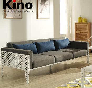 Modern Fabric Sofa Office Furniture 3 Seater Metal Frame Sofa Design
