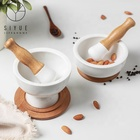 New design porcelain kitchen white mortar and pestle