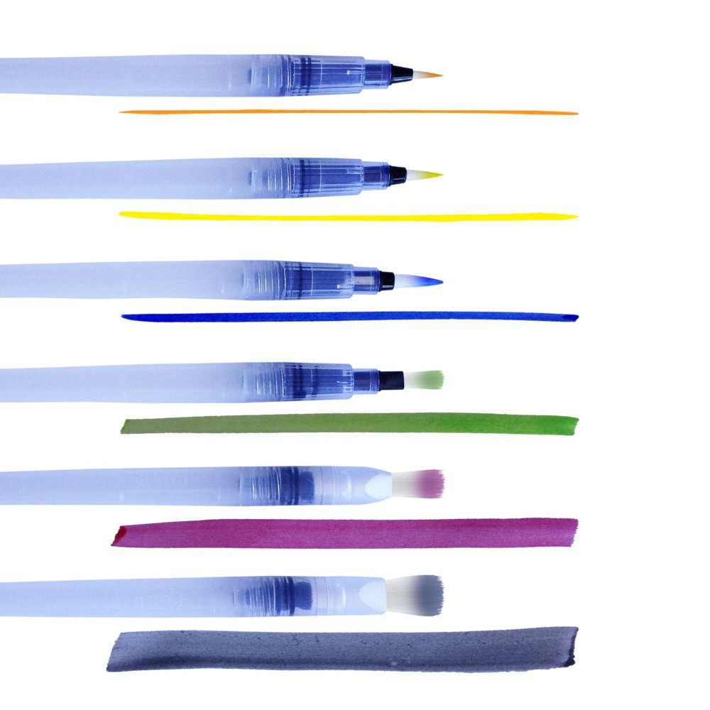 Assorted Tips Water Color Brush Pen For Artist Painting