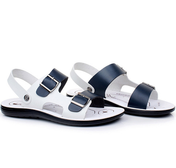 Latest Design Men Leather Sandals /beach Shoes/slippers