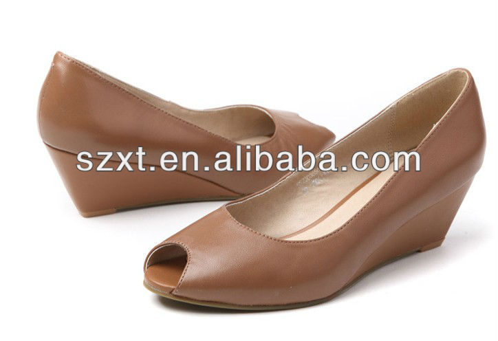 Wedge Heels Summer Shoes Large Size For Women Evening Ladies Low ...