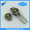2017 Promotional golf metal divot tool / pitch forks cheap ball marker
