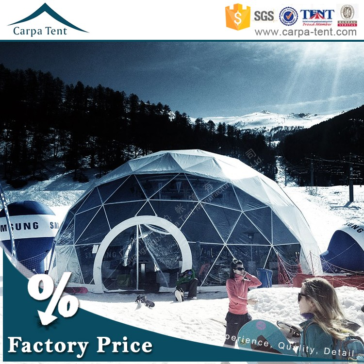 20 diameter clear span geodestic dome tent for outdoor events