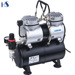 Hseng AS196 airbrush painting mini air compressor