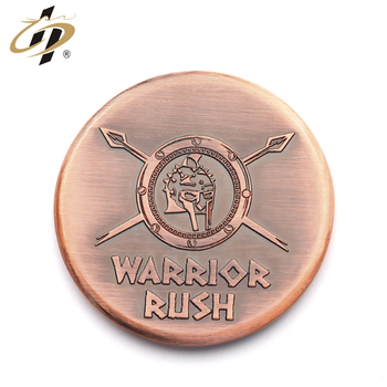 Antique copper 3D logo custom high quality challenge coin made in China