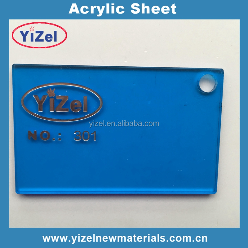 hot sizes High quality Acrylic Sheet PMMA materials 1240x2460mm cast transparent blue acrylic sheet