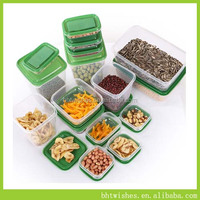 rectangular plastic storage box,BHT0037 collapsible plastic food storage containers