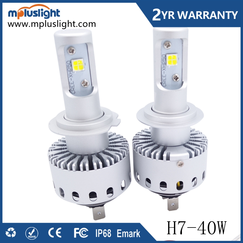 super brightness 40w white 9012 h1 h3 h7 h11 9005 9006 single beam lamp led car headlight bulb for any auto parts