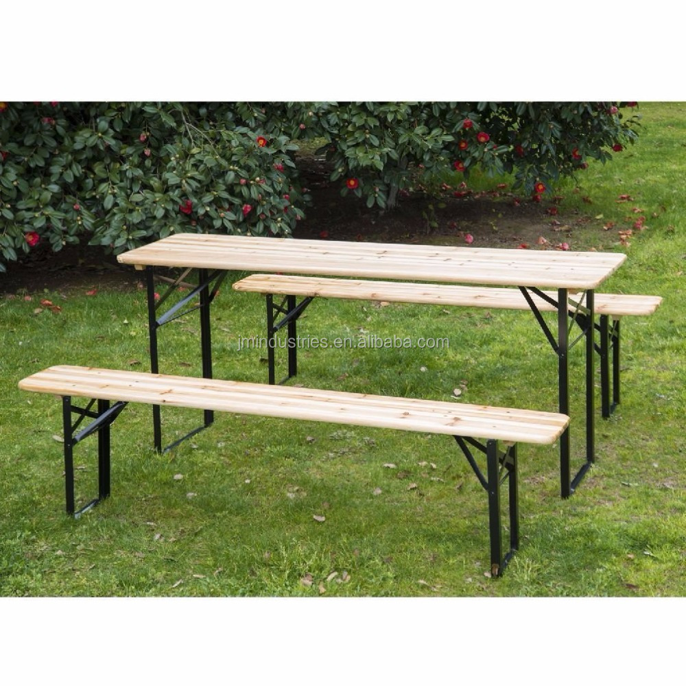 Pleasant 6Ft Wooden German Style Folding Picnic Beer Garden Table Set Buy Beer Garden Table And Bench Folding Dining Table Set Beer Pong Set Product On Pabps2019 Chair Design Images Pabps2019Com