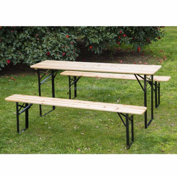 6ft Wooden German Style Folding Picnic Beer Garden Table Set - Buy ...