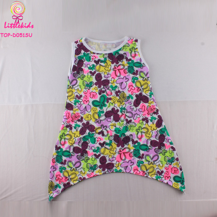 Little Angels Child Models Cotton Knitted Frock Suit Design Images Designer Baby Girls Costume Butterfly Pattern Dress