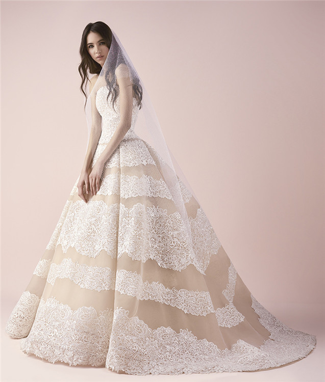 Custom Made Wedding Dress Ball Gown Champagne Pattern Lace Moroccan Bridal Dresses Alibaba