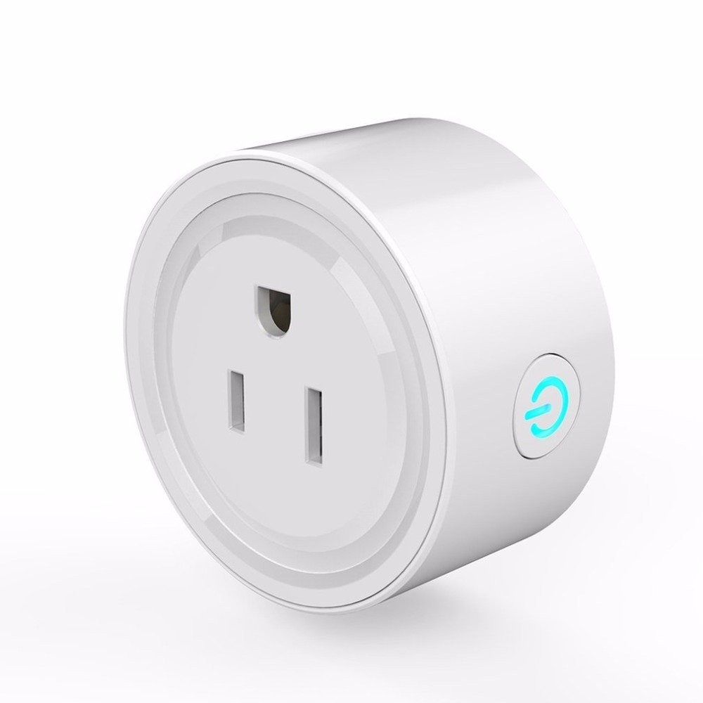 OWIKAR Smart Wifi Plug Outlet, Compatible with Alexa - Voice Control Light Switch Socket - Remote Control From Anywhere With Smart Phone - No Hub Required - Smart Timer Wireless Outlet