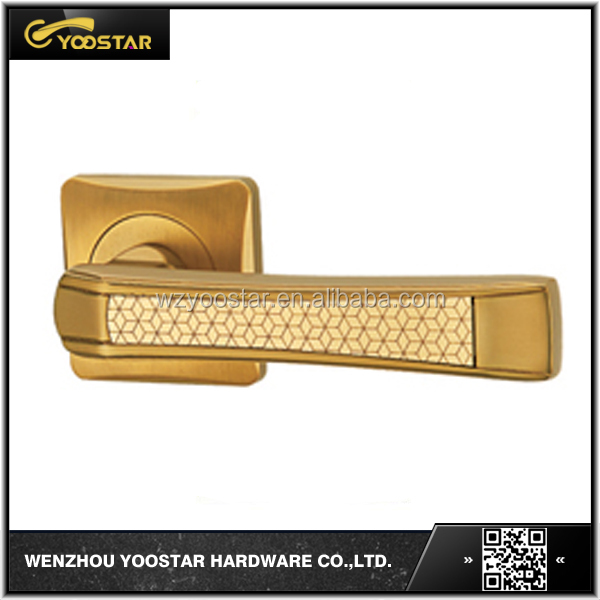 OEM modern micromesh zinc alloy door level handles