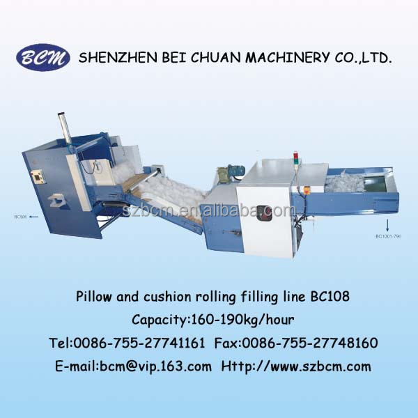 Pillow/Cushion automatic rolling filling machine