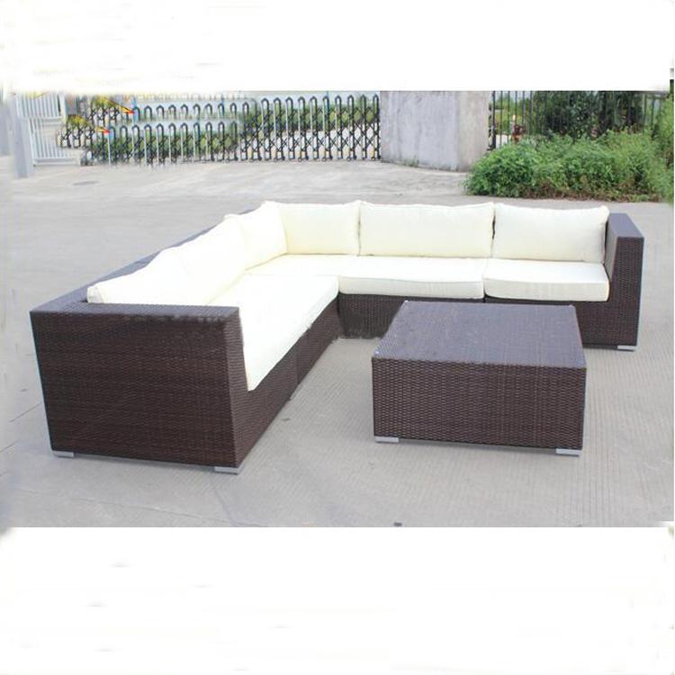 Used Wicker Furniture For Waterproof Outdoor L Sharp Sofa Rattan