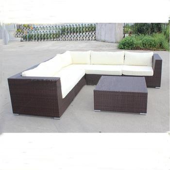Used Wicker Furniture For Waterproof Outdoor L Sharp Sofa Rattan Garden