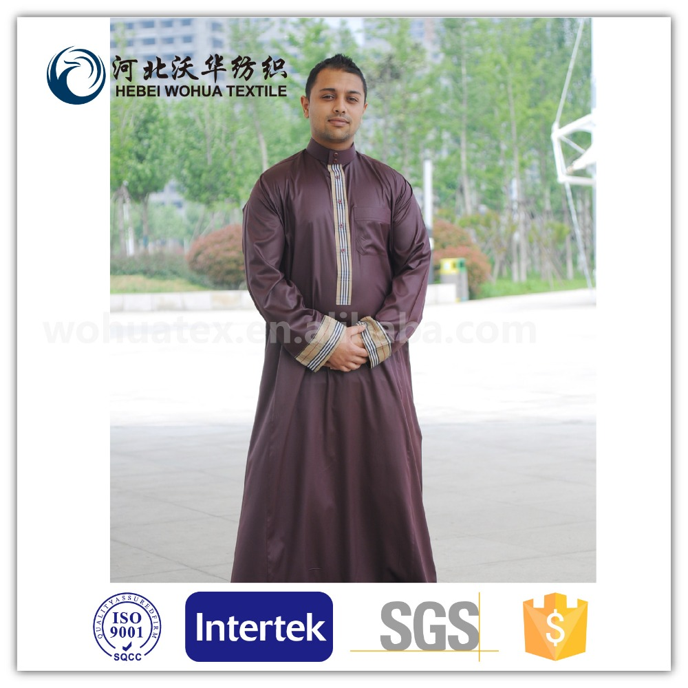 2017 hot selling arabic thobe fabric high quality 100%microfiber polyester arabic thobe fabric