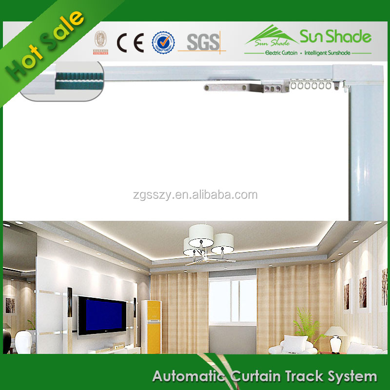 Chinese Automatic Sun Shading System Manufacturer Hotel Automatic Curtain Track
