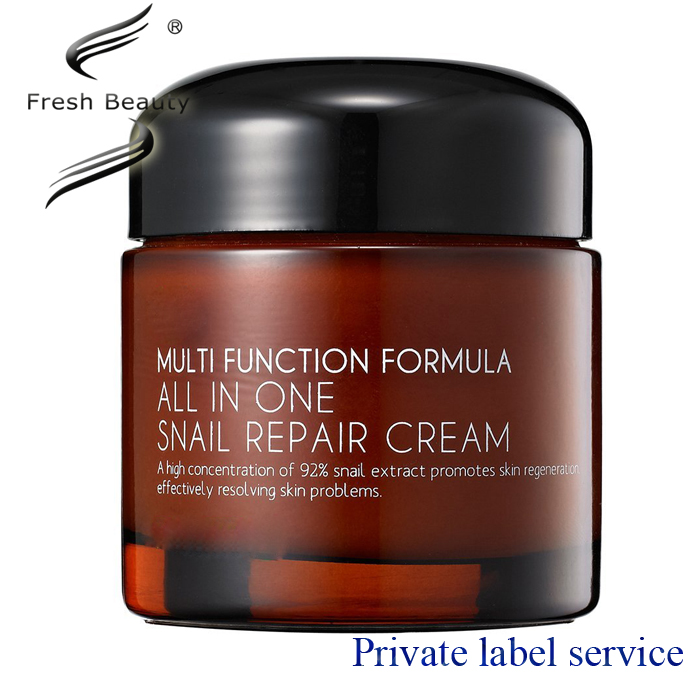 Hot sale OEM whitening and repaire skin repairing snail cream