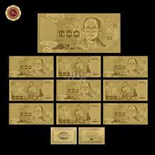 WR аксессуары для дома 50 батов красочная Коллекционная Золотая банкнота тайские художественные сувениры Лидер продаж украшение для дома по...(Китай)