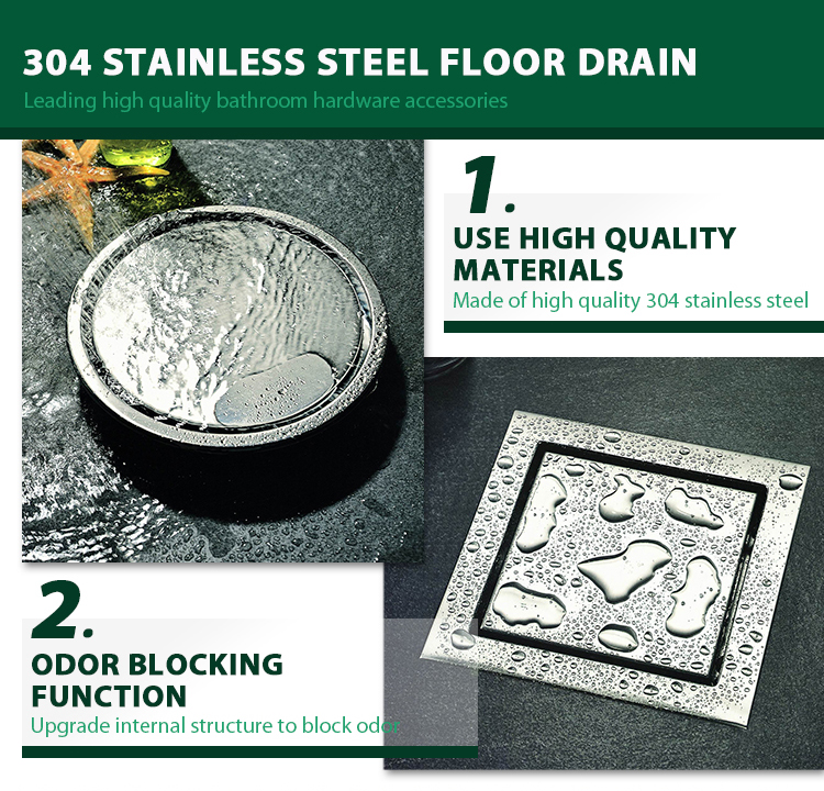304 stainless steel drainage shower drain trap different types of rectangular shower drains