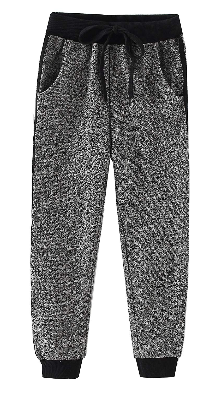 Boy's Kids Slim Classic Basic Jogger Side Stripe Casual Cotton Pants Trouser in Grey