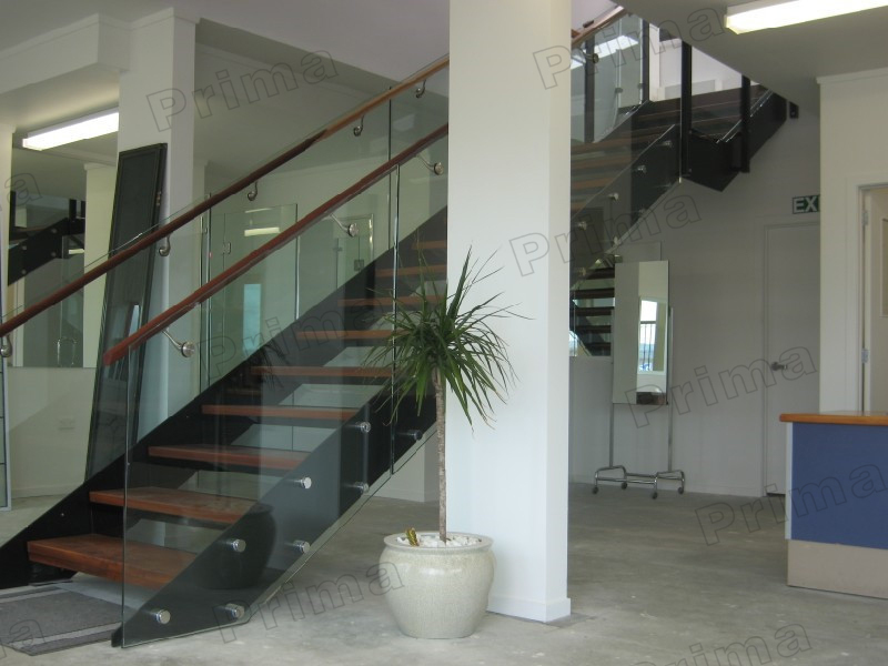 Luxus Stahl Stringer Haus Innendesign U Form Modulare Treppe