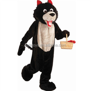 New gray wolf mascot costume/adult gray wolf costume for promotion