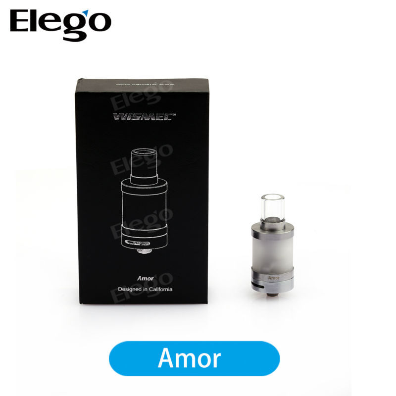 Original Wismec Amor 2.5ml 0.5ohm/1.0ohm Adjustable Airflow Amor Frosted Glass Tank Vaporizers Pen