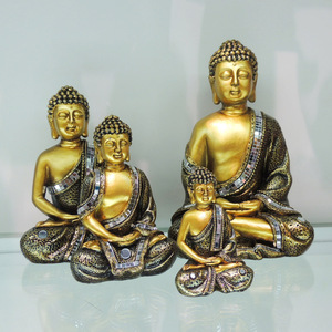 Different size gold gautam shakyamuni buddha statues for sale