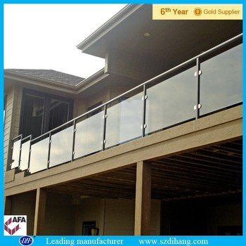 Exterior Glass Railing Roof Deck Railing Garden Stair Railing Buy