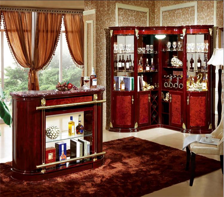 Bar en bois meubles en bois meuble dangle avec bar en  ~ Bar D Angle En Bois