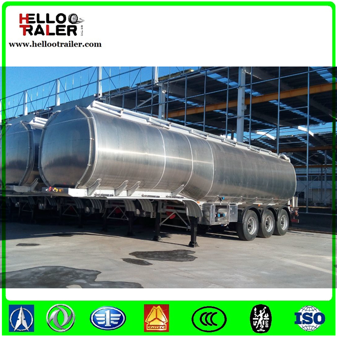 SASO, ADR, DOT certificated 42000 liters aluminum alloy 5858 fuel tank trailer