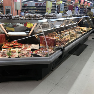 Green&Health Deli showcases for Sale Supermarket Meat/Seafood Refrigerators Showcase
