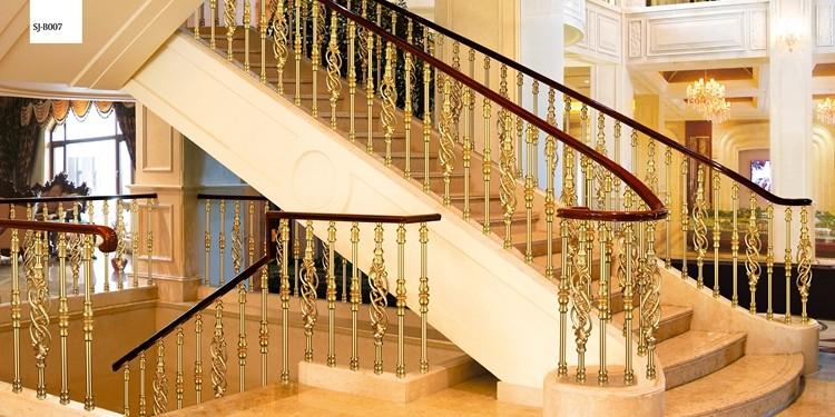 Indoor Copper Stair Railing /aluminium Stair Handrail /brass Stair Balusters