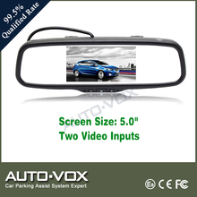 Clip-on Black 5 Inch Plastic Back Vision Mirror
